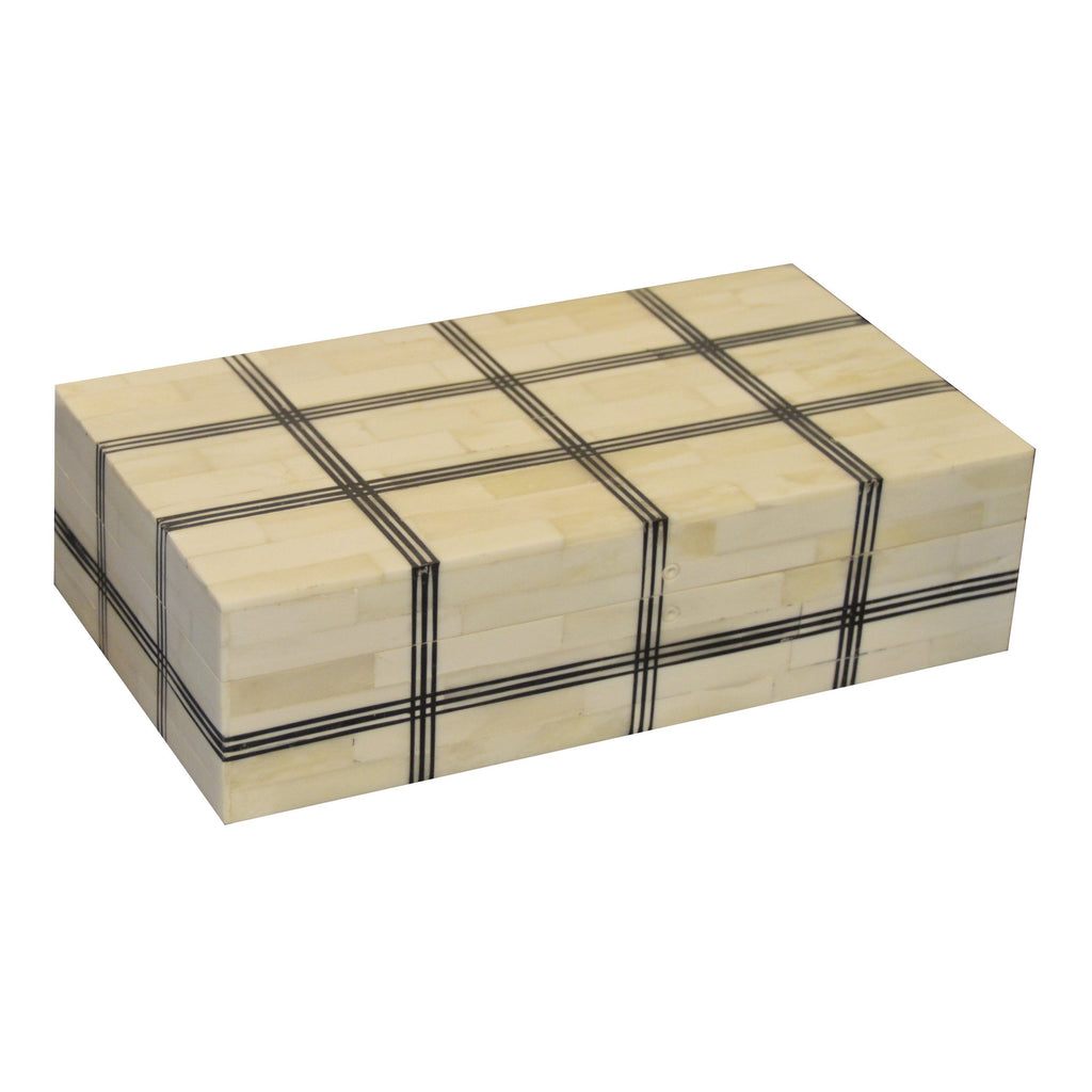 Hatch Pattern Bone Box Boxes A. Sanoma Large