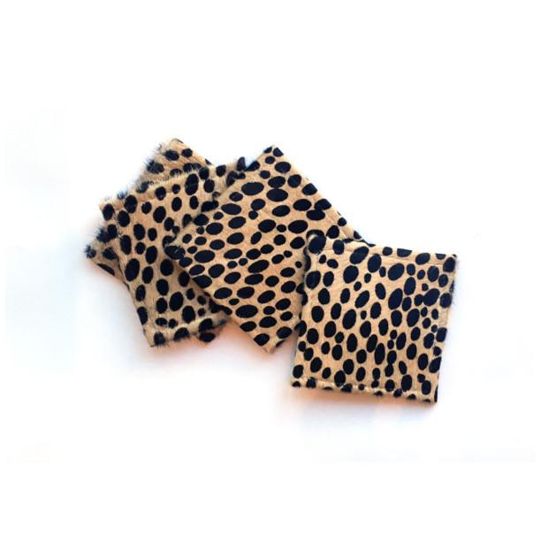 Cheetah Hide Coasters  B.S. Trading Rug Accessories - 1