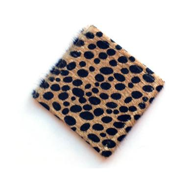 Cheetah Cowhide Coasters