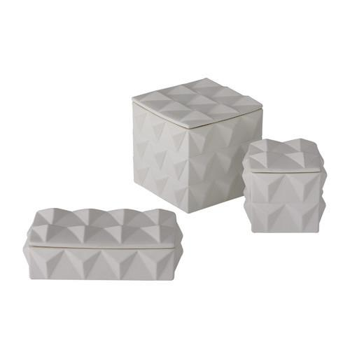 Braque Ceramic Box Boxes Global Views Small