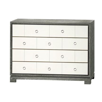 Brooklyn 4 Drawer Dresser Grey Cerused Oak Bungalow 5 Dresser - 1