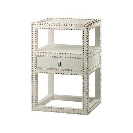 Mason Lacquer Grass Cloth Side Table