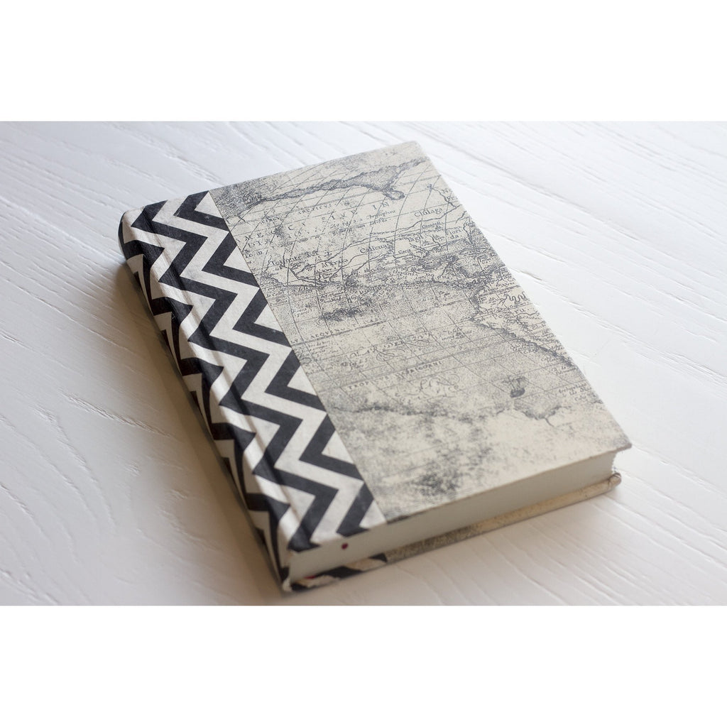 Black and White Chevron Decorative Book  Go Home Ltd. Accessories - 2