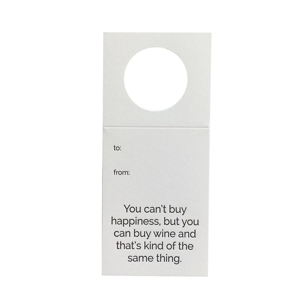 Wine Gift Tags Cant Buy Happiness Chez Gagne Cards - 9