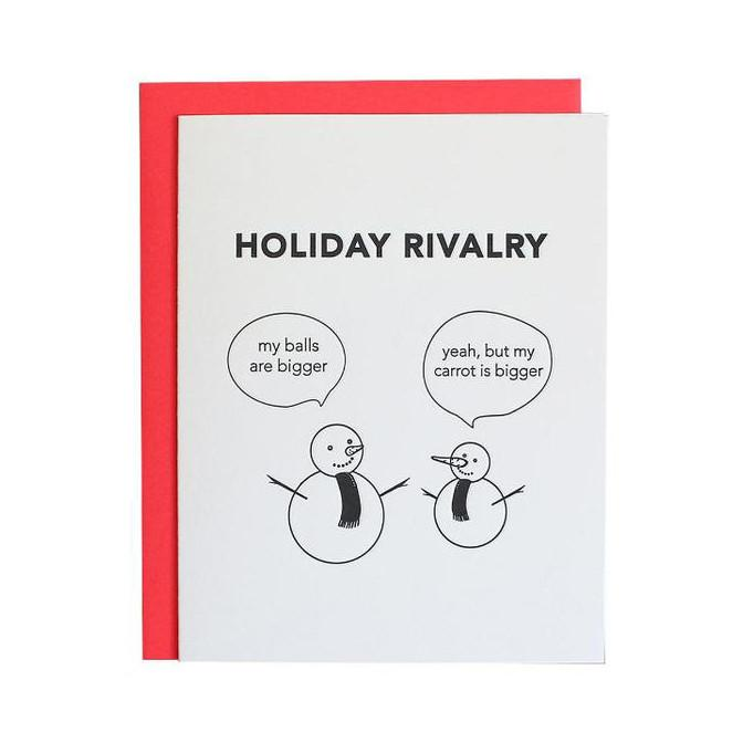 Holiday Snowman Rivalry Card