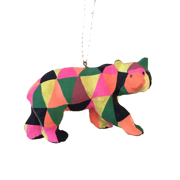 Neon Geo Animal Ornament