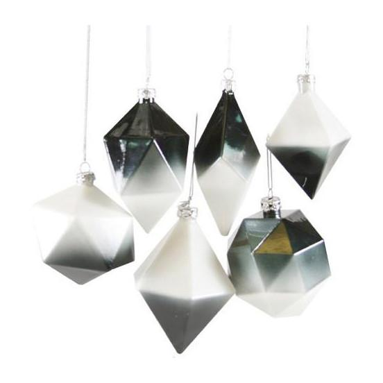 Gradient Geometric Glass Ornament  Cody Foster & Company Ornaments
