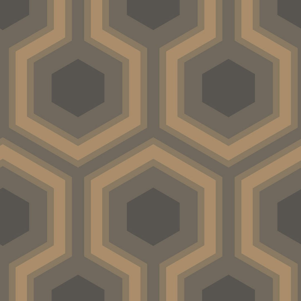 Hick's Grand Hexagon Wallpaper wallpaper Cole & Sons Slate