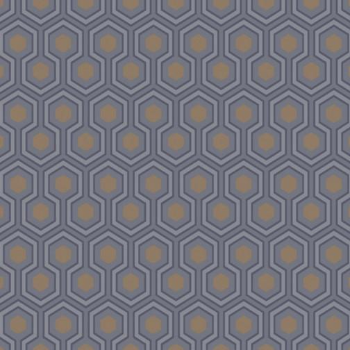Hicks Hexagon Pattern Wallpaper Wallpaper Cole & Sons Purple