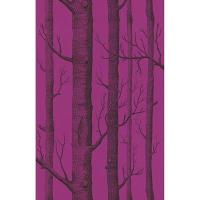 Woods Wallpaper Wallpaper Cole & Sons Onyx/Plum
