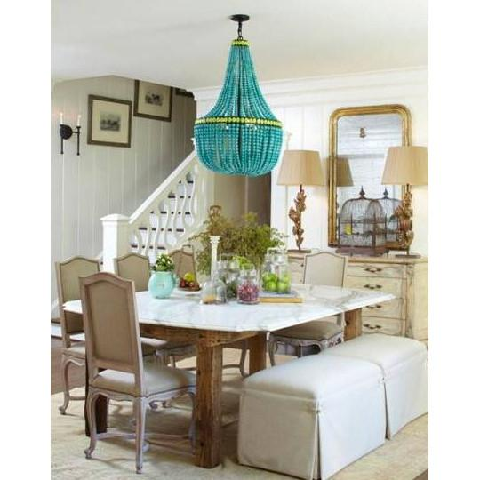 Hedy Glass Chandelier  Currey & Co Lighting - 2