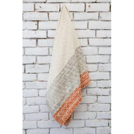 Thick and Thin Orange Knit Throw Blanket  Darzzi Blankets - 2