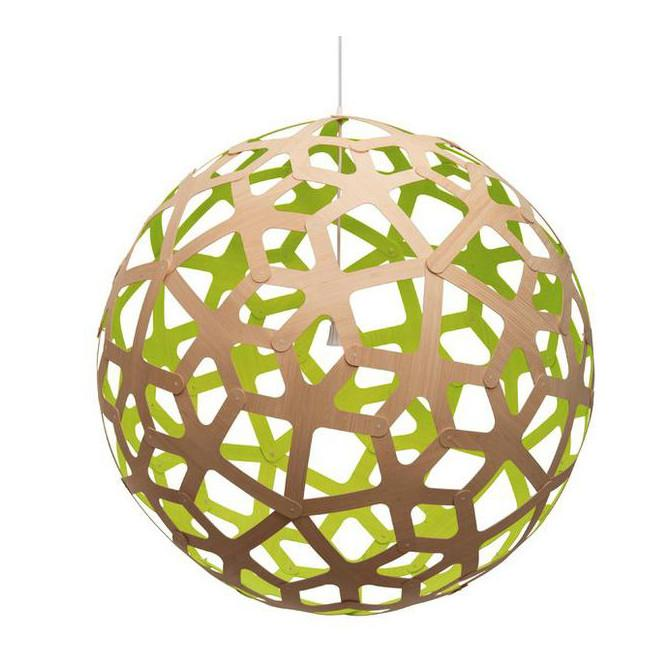 "David Trubridge Painted Coral Pendant Light 24"" / Lime David Trubridge Pendants - 5"