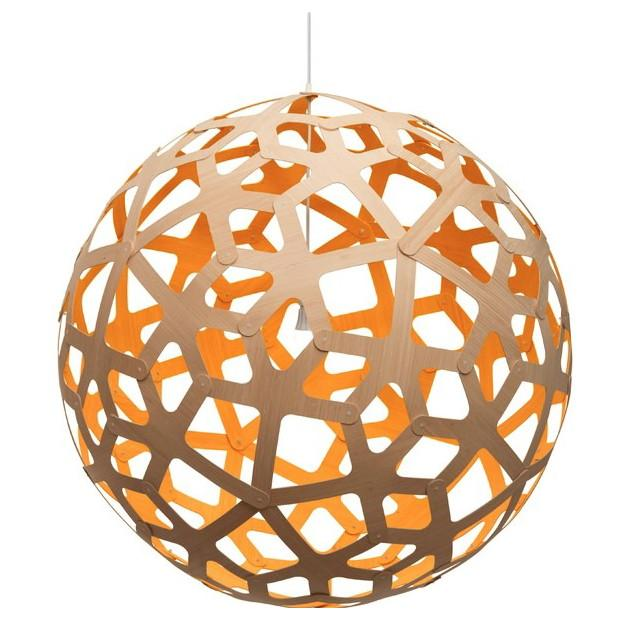 "David Trubridge Painted Coral Pendant Light 63"" / Orange David Trubridge Pendants - 4"