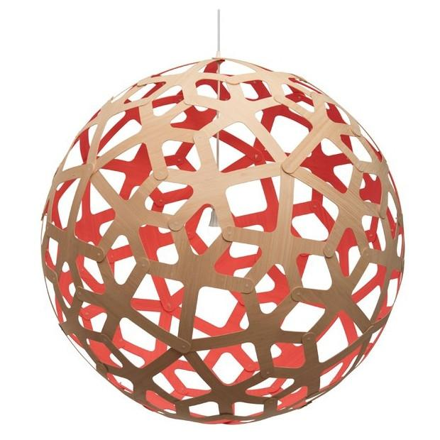 "David Trubridge Painted Coral Pendant Light 40"" / Red David Trubridge Pendants - 1"