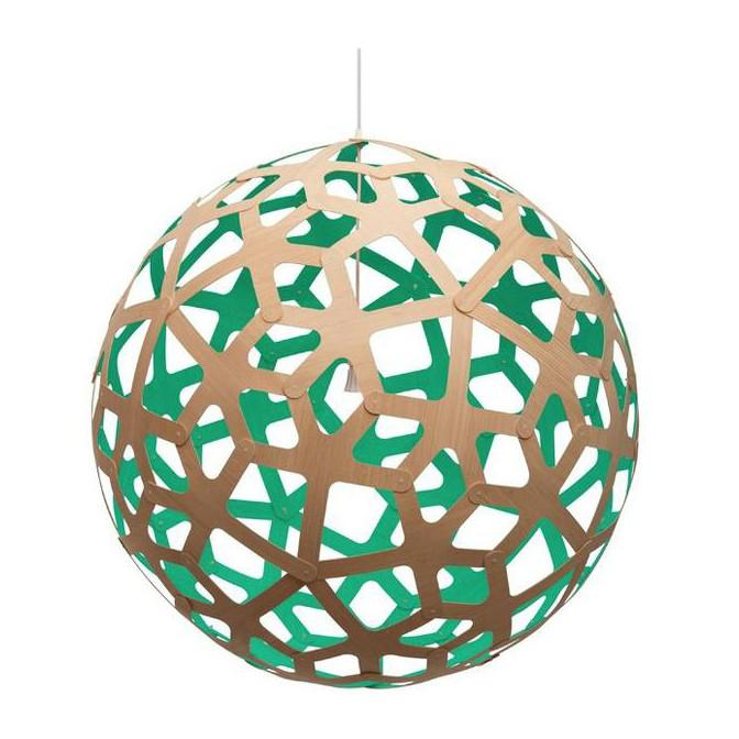 "David Trubridge Painted Coral Pendant Light 32"" / Teal David Trubridge Pendants - 3"