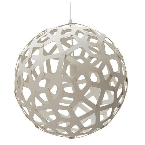 David Trubridge White Coral Pendant Light Pendants David Trubridge 40""
