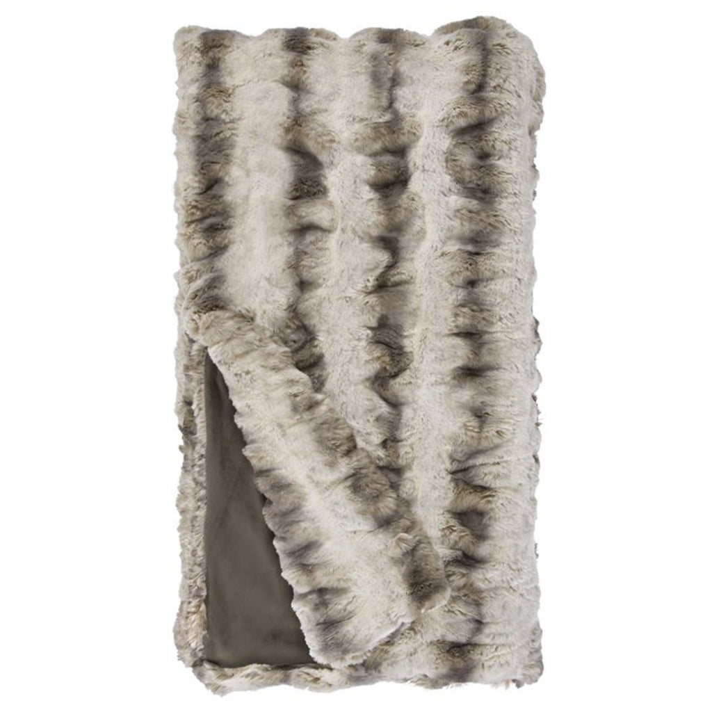 Couture Faux Fur Chinchilla Throw Throw Fabulous Furs