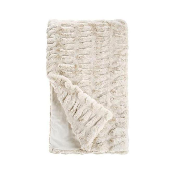 Couture Faux Fur Throw Ivory Fabulous Furs Blankets - 5