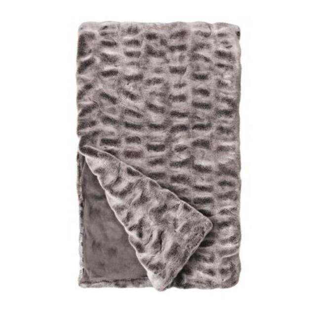 Couture Faux Fur Throw Blankets Fabulous Furs Glacier Grey