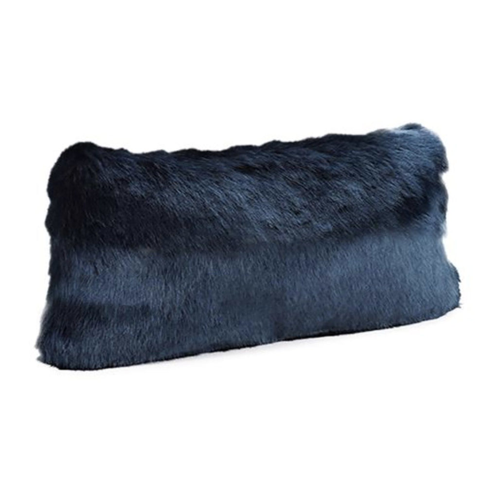 Steel Blue Mink Faux Fur Pillow Pillows Fabulous Furs