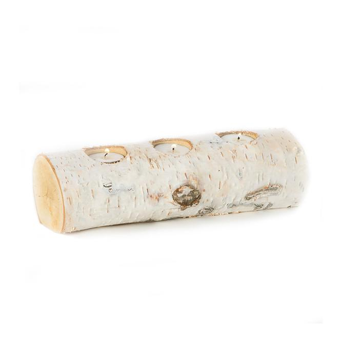 Birch Log Votive Holder  FLOWER MARKET candle holder - 1