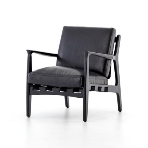 Silas Black Occasional Chair chair Four Hands