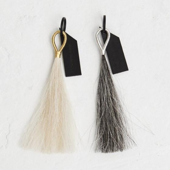 Wire Wrapped Horse Hair Tassel Key Chain  Fredericks & Mae Accessories - 2