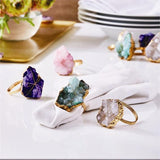 Geode Napkin Ring Set  Two's Company Accessories