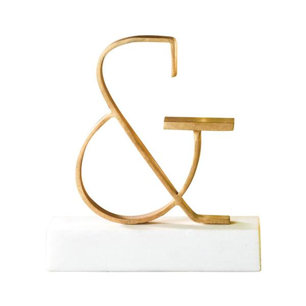 Ampersand Object Brass Sculpture  Global Views Accessories - 1