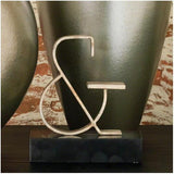 Ampersand Object Brass Sculpture Silver Leaf Global Views Accessories - 2