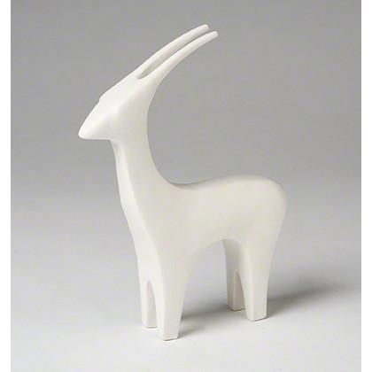 Antelope Ceramic Objet Sculpture White Global Views Accessories - 4