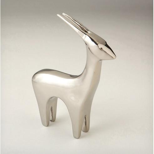 Antelope Ceramic Objet Sculpture Silver Global Views Accessories - 3