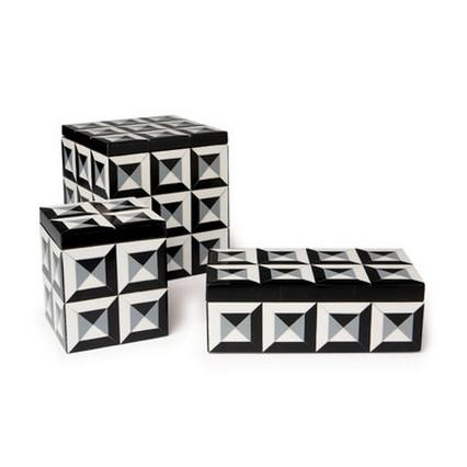 Deco Patterned Rectangular Resin Box Boxes Global Views Small