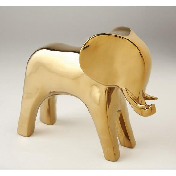 Elephant Objet Sculpture Gold Global Views Accessories - 2