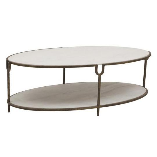 Iron and Stone Coffee Table  Global Views Coffee Table - 1