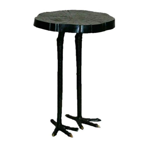 Global views ostrich leg faux tree iron side table shop vanillawood ostrich iron side table watchthetrailerfo