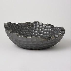 Random Grid Bowl Graphite Global Views Bowls - 3