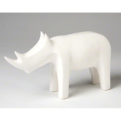 Rhino Objet Ceramic Sculpture White Global Views Accessories - 3