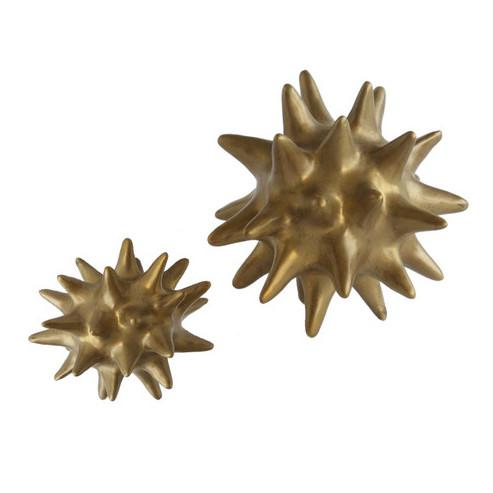 Bronze Urchin Ceramic Objet Sculpture Small Global Views Accessories - 2
