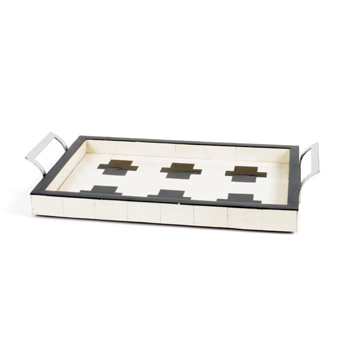 Cross Ivory and Black Bone Tray  Go Home Ltd. Trays