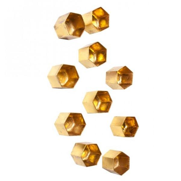 Beehive Wall Play Resin Wall Decor Gold Gold Leaf Wall Decor - 3