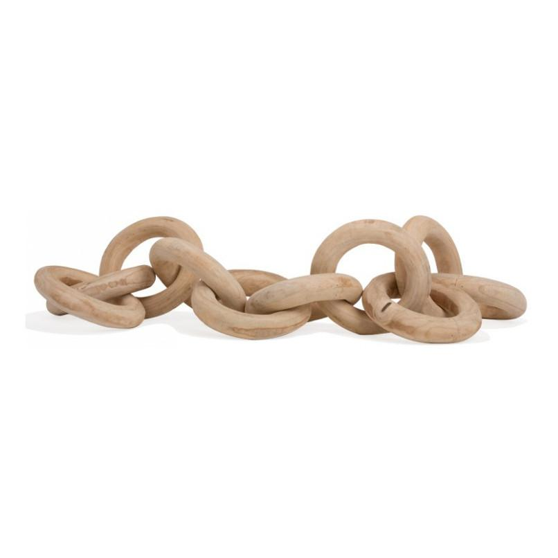 Large Wood Chain  Gold Leaf Accessories - 1
