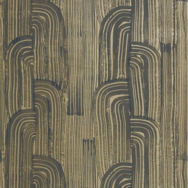 Crescent Wallpaper Ebony/Gold Groundworks Wallpaper - 6