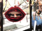 Smoking Lips Ornament