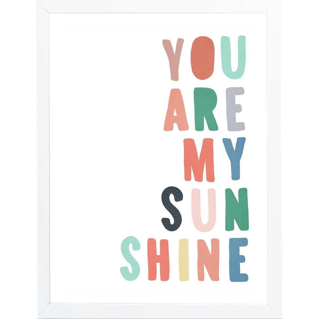 """You Are My Sunshine"" Framed Art"