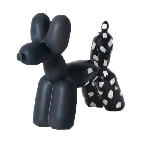 Ceramic Dual Color Balloon Dog Bookend Accessories Imm Living Black