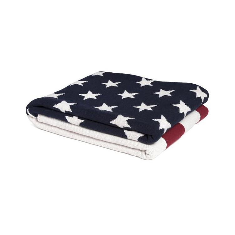 American Flag Cotton Throw Blankets In2Green
