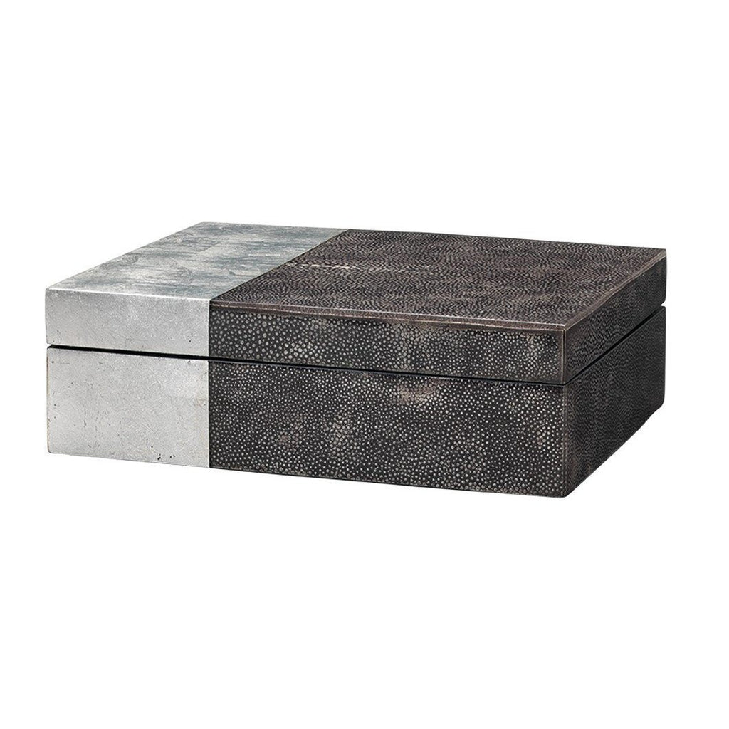 Faux Shagreen Raymond Box Boxes Jamie Young Black
