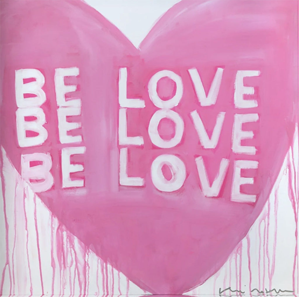 Be Love Drippy Heart Block of Love Art